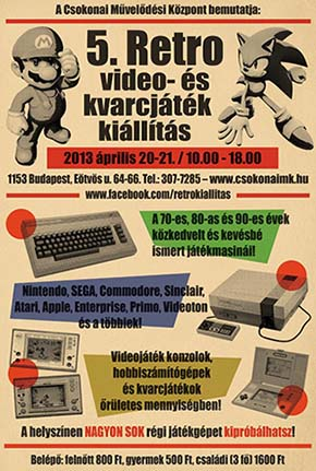 �jra Retro video- �s kvarcj�t�k ki�ll�t�s a Csokiban!